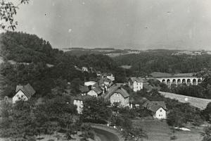 Dolení Radimovice snad v 50. letech (sbírka Josefa Janečka)
