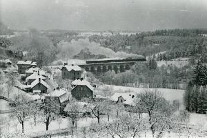 Dolení Radimovice v zimě  (sbírka rodiny Janečkovy)