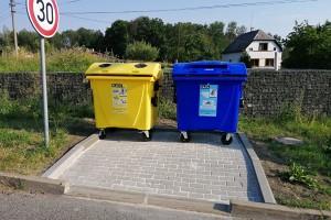Kontejnerové stání na tříděný odpad
