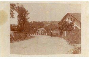 Radimovice - pohled na cestu k nádraží