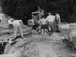 Výstavba koupaliště