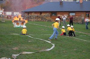 70 let hasičů - Zásah dětí