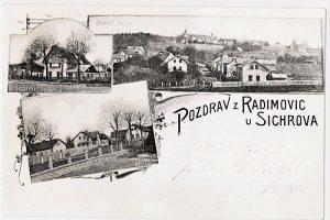 Radimovice - historická pohlednice